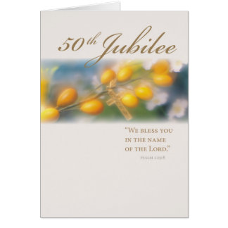 3994_50th Jubilee Cross in Gold Card