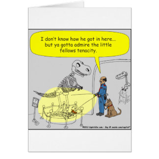 399 dino puppy size doesn't matter cartoon greeting card