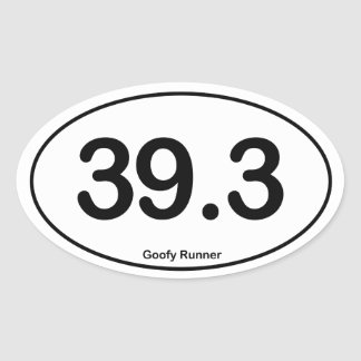 39.3 Goofy Runner - Oval Sticker