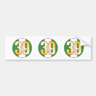 39 NIGERIA Gold Bumper Sticker