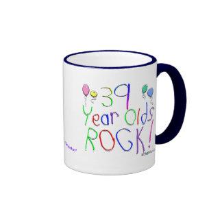 39 Year Olds Rock ! Ringer Mug