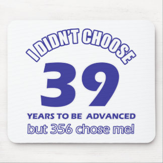 39 years advancement mouse pad