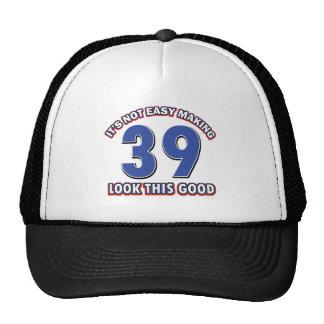 39 years Old birthday designs Trucker Hats