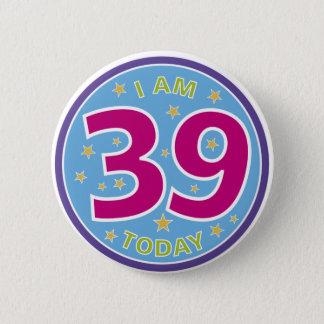 39th Birthday Badge