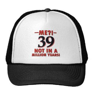 39th birthday designs cap