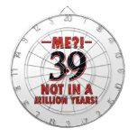 39th birthday designs dart boards