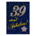 39th birthday for someone Fabulous Card