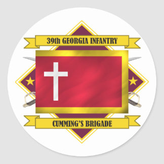 39th Georgia Infantry (Flags 3) Round Stickers