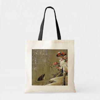 3. 雪中鴛鴦図, 若冲 Mandarin Duck in The Snow, Jakuchū Bags