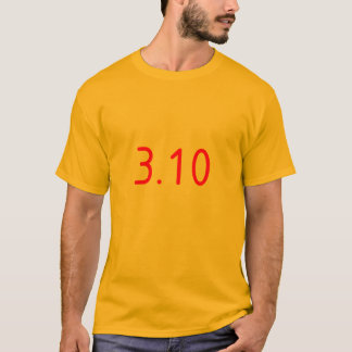 3.10 red text T-Shirt