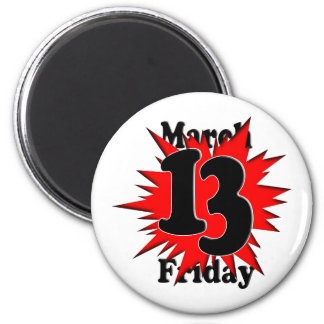 3-13 Friday the 13th Refrigerator Magnets