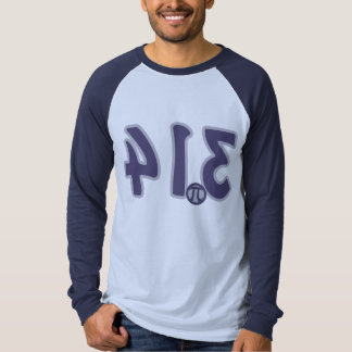 3.14 Backwards looks like pie Pi Day Tee Shirt
