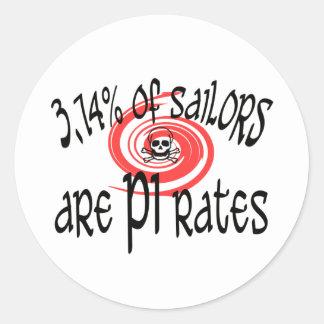 3.14 PI-rates Classic Round Sticker