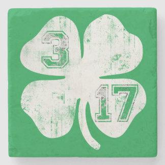 3/17 St Patricks Day Shamrock Stone Coaster