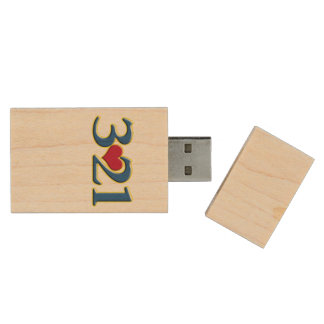 3-21 World Down Syndrome Day Wood USB 2.0 Flash Drive