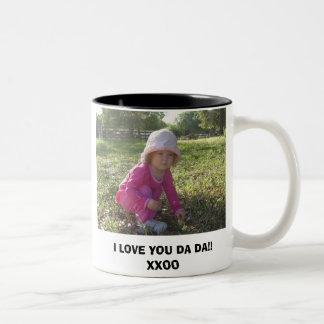 3-27-2007-86, I LOVE YOU DA DA!!XXOO Two-Tone COFFEE MUG