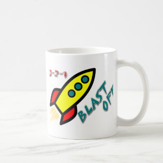 3-2-1 BLAST OFF COFFEE MUG