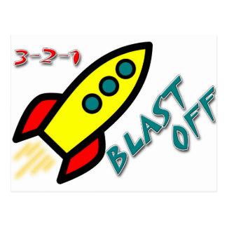 3-2-1 BLAST OFF POSTCARD