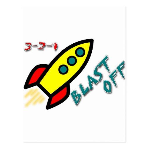 3-2-1 BLAST OFF POSTCARDS