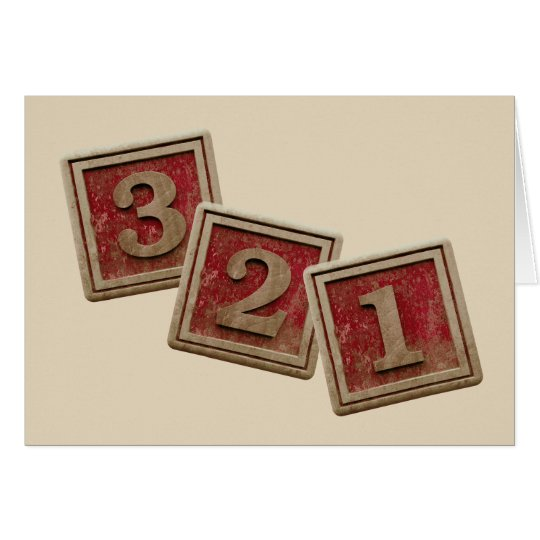 3 2 1 Craft Blocks Card Blank Inside