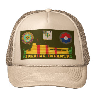 3/47th Inf. ATC Tango Boat & Patches Hat