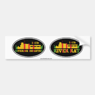 3/47th Riverine Infantry Euro-Sticker Pair Bumper Sticker