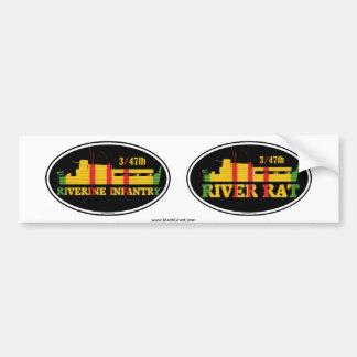 3/47th Riverine Infantry Euro-Sticker Pair Bumper Sticker