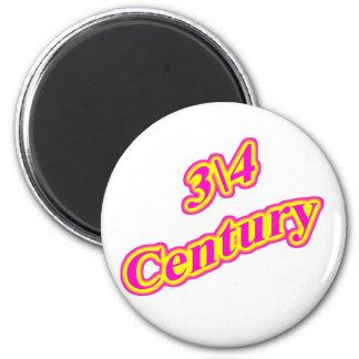 3\4 Century  Magenta 6 Cm Round Magnet