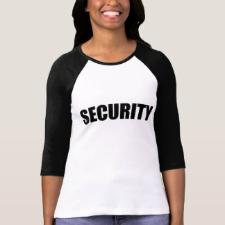 3/4 Sleeve Raglan (Fitted) Security front and back T Shirt