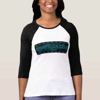 3/4 sleeve rock t-shirt with AmaraDazzle logo