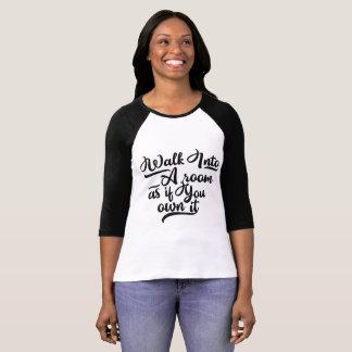 3/4 sleeve t-shirt Inspirational