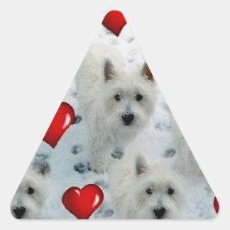 3.5 2.7 westie hearts new xvz 3.5 2.7 z.jpg triangle sticker