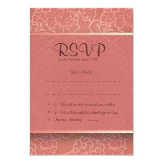 "3.5"" x 5""  Pink Floral Flower RSVP Wedding Card 9 Cm X 13 Cm Invitation Card"