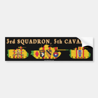 3/5th Cavalry VSR Tracks & Tank Bumper Sticker