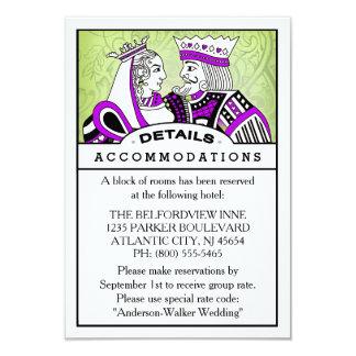 3.5x5 Details Information Card - King & Queen 9 Cm X 13 Cm Invitation Card