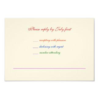 3.5x5 Gay Wedding Rainbow LGBT Pride RSVP Textured Card