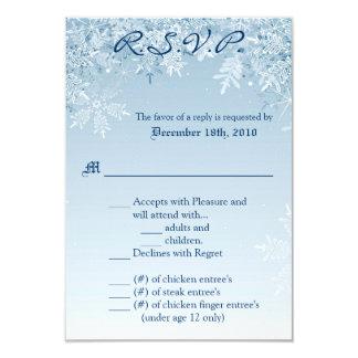 3.5x5 R.S.V.P. Card Crystal Snowflakes Winter Snow 9 Cm X 13 Cm Invitation Card