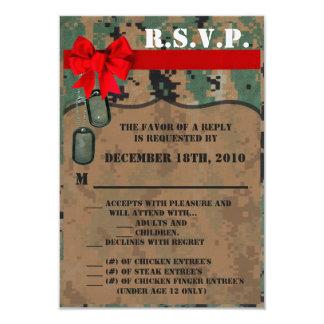 3.5x5 R.S.V.P. Card Marine Corps DIGITAL PRINT Uni 9 Cm X 13 Cm Invitation Card