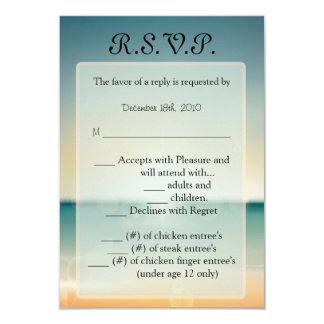 3.5x5 R.S.V.P. Card Sunset Beach 9 Cm X 13 Cm Invitation Card