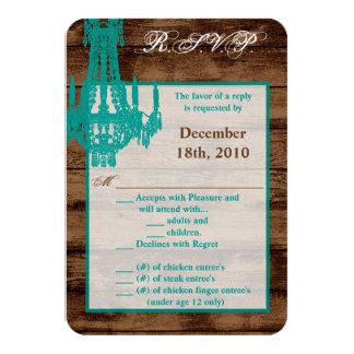 3.5x5 R.S.V.P. Card Western Rustic Chandelier Coun 9 Cm X 13 Cm Invitation Card