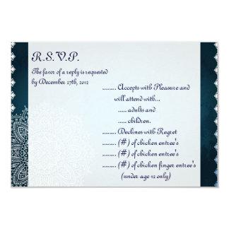 3.5x5 R.S.V.P Reply Card Deep Moroccan Blue
