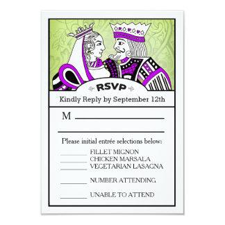 3.5x5 RSVP Menu Card - King & Queen Playing Card 9 Cm X 13 Cm Invitation Card
