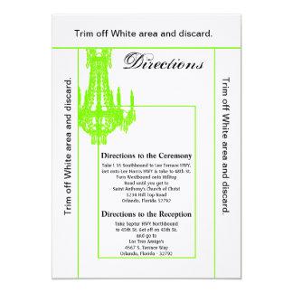 3.5x6 Directions Card Crystal Chandelier Glitz Gla 13 Cm X 18 Cm Invitation Card