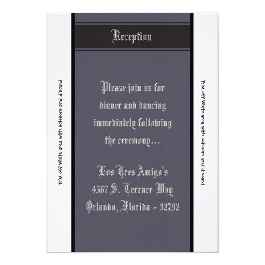 3.5x7 Reception Card Black Tie Affair