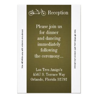 3.5x7 Reception Card Brown Double Bike 13 Cm X 18 Cm Invitation Card