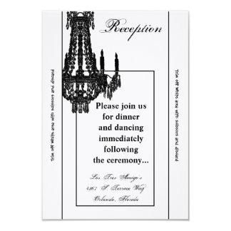 3.5x7 Reception Card Crystal Chandelier Glitz Glam 9 Cm X 13 Cm Invitation Card