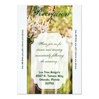 3.5x7 Reception Card Crystal Chandelier Oak Tree 13 Cm X 18 Cm Invitation Card