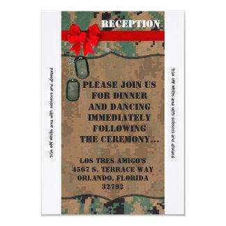 3.5x7 Reception Card Marine Corps DIGITAL PRINT Un 9 Cm X 13 Cm Invitation Card