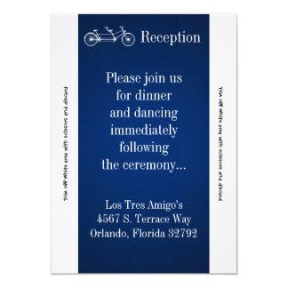 3.5x7 Reception Card Navy Double Bike 13 Cm X 18 Cm Invitation Card
