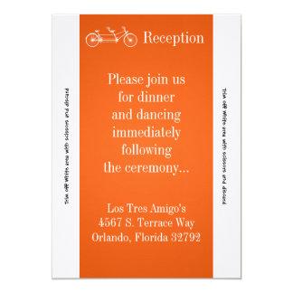3.5x7 Reception Card Orange Double Bike 13 Cm X 18 Cm Invitation Card